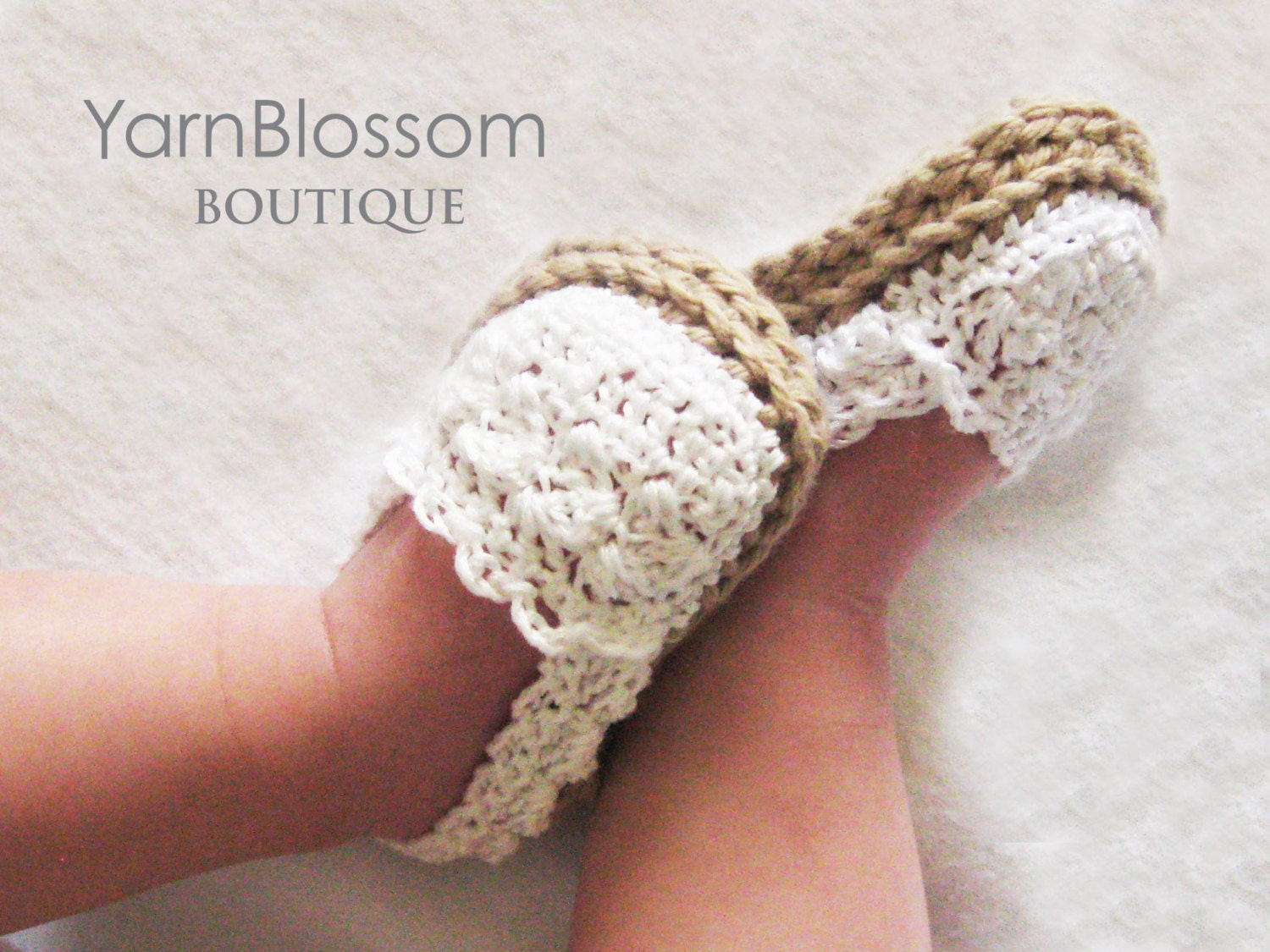 Crochet Shoes : CROCHET PATTERN Baby Girl Espadrille Shoes by YarnBlossomBoutique