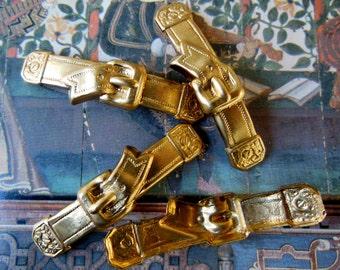 Curved Brass Belt ( 2 pc)