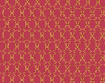 72071 Free Spirit Tina Givens Lilliput Fields Wrought in Rouge color - 1 yard