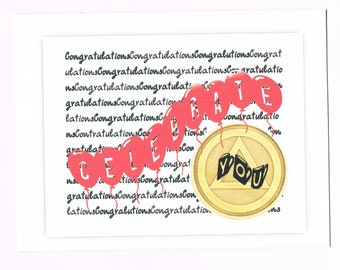 Congratulations Celebrate You 12 Step greeting card