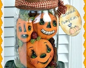 Primitive Pumpkin Pattern, Canned Pumpkins E-pattern, Sewing Pattern, Fall, PDF Instant digital download pattern, Digital download pattern
