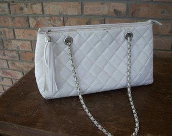 Vintage purse, faux leather tassell