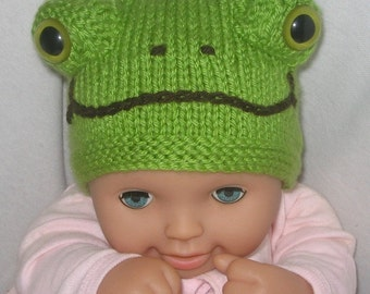 Ladybird and Frog Beanies - KNITTING PATTERN – pdf file by automatic download