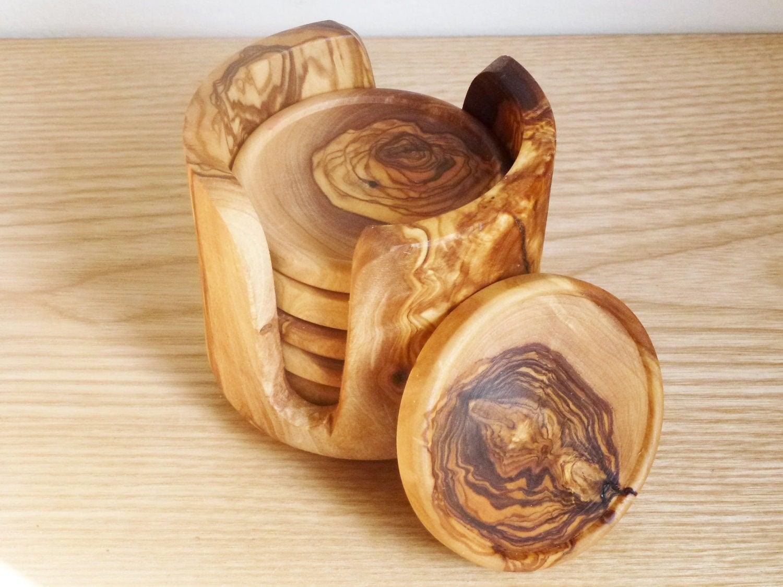 The Handmade Wooden Rustic Coaster Set Gadgetsin