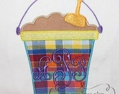 Summer Simple Sand Pail Embroidery Design Machine Applique