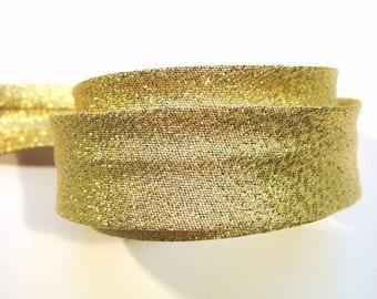 Metallic gold bias binding, metallic gold bias tape, gold trim, gold sewing tape,UK haberdashery, sew supplies, festive gold bias binding