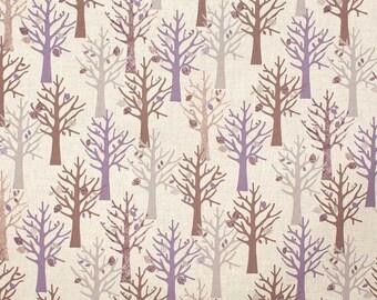 """SALE - Forest - Purple (61"""") light canvas true from Kokka"""