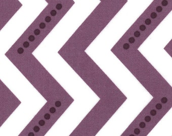 SALE - Simply Color - Metro Stripe Dotted Zig Zag Purple by V and Co from Moda