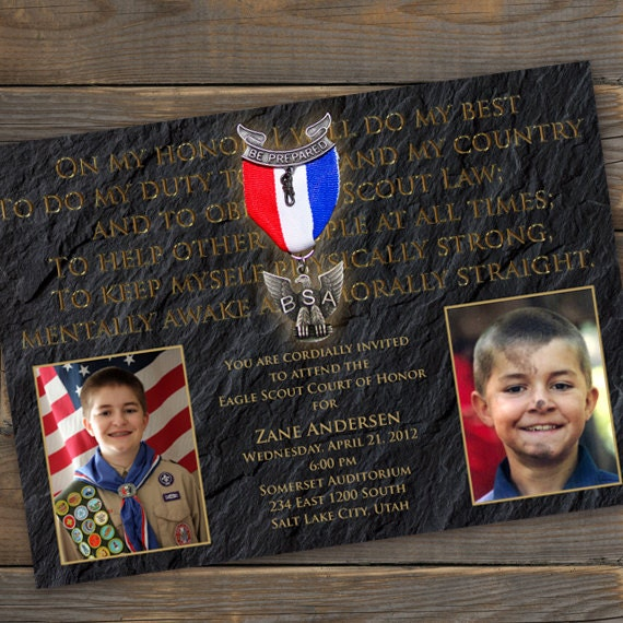 Boy Scout Eagle Invitations http://www.etsy.com/listing/95907624/eagle-scout-court-of-honor-invitation