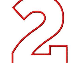 "SUPER JUMBO Chunk Block APPLIQUE Number Set - Sizes 8"", 9"", 10"" & 11"""