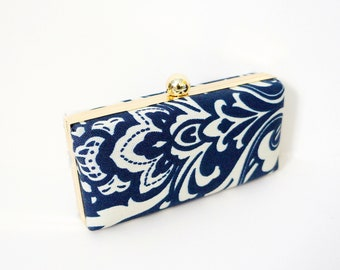Damask Clamshell Clutch Purse -Available in all colors