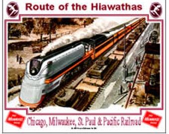 RAILROAD TIN SIGN - Milwaukee Railroad