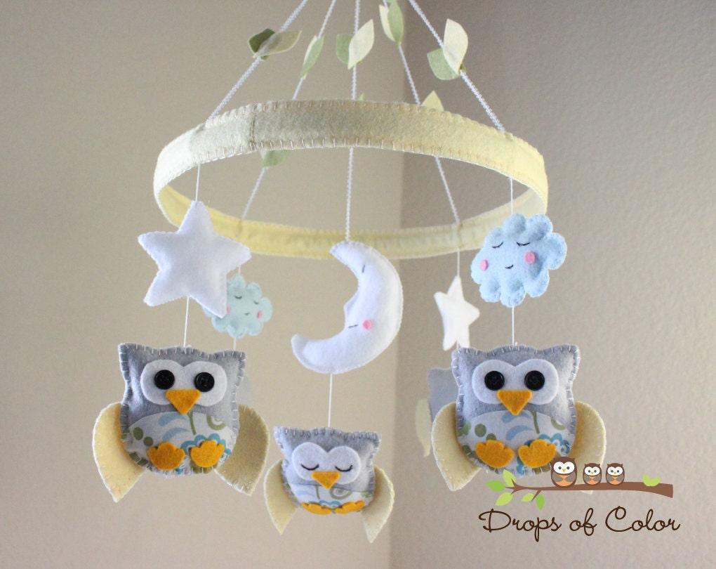 Baby crib mobile baby mobile owl mobile baby owls in - Decoracion con buhos ...