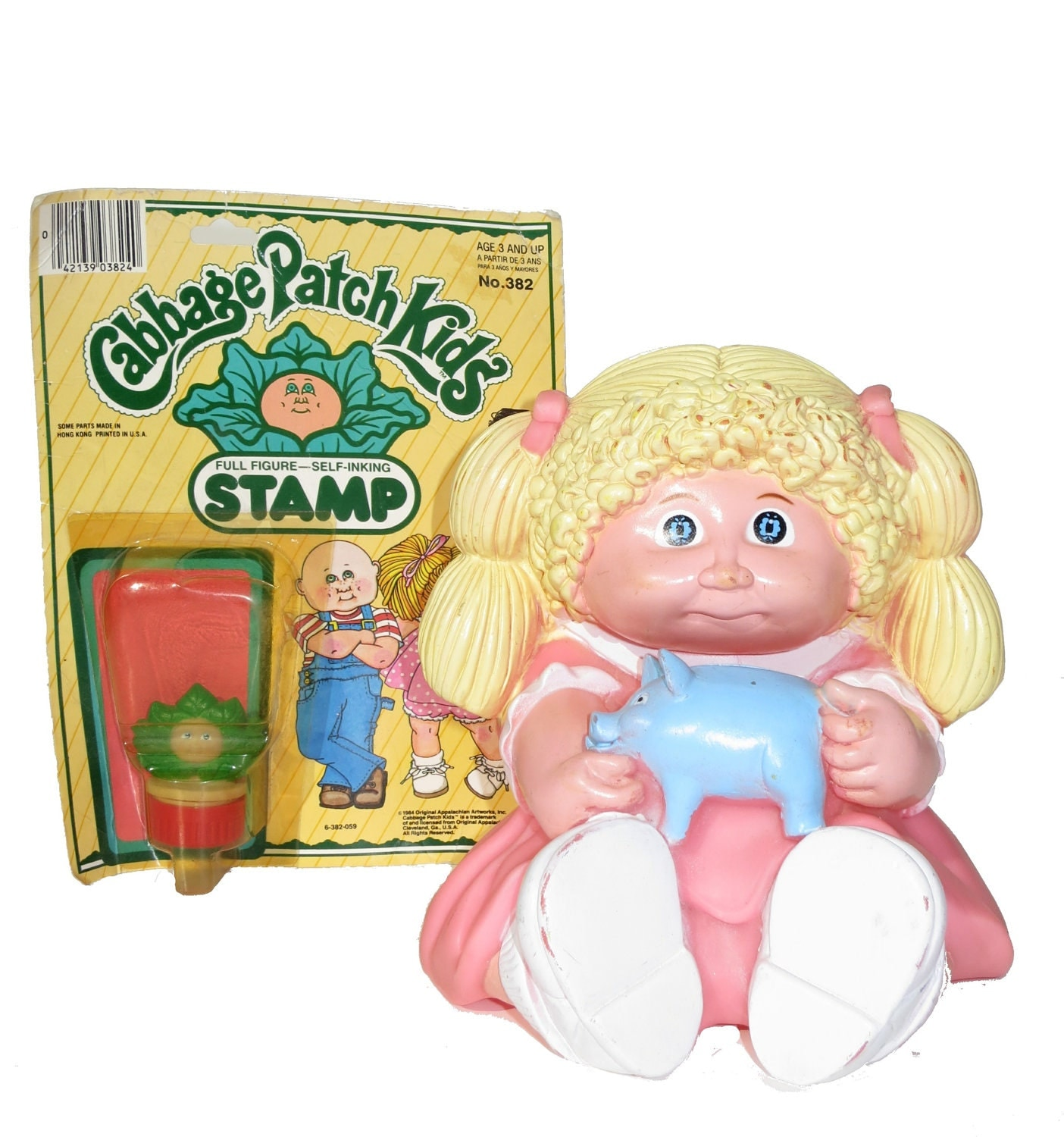 1984 Toys For Girls : Vintage s cabbage patch kids bank and stamp retro