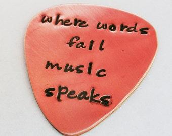 Custom guitar pick, personalized guitar pick, Music lovers gift