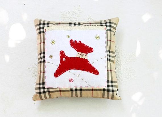 "Christmas pillow, Christmas decor ,  Decorative Pillow, Eco friendly 12 "" x 12'"" (30cm. / 30cm. )"
