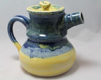 A Ceramic Teapot Sunburst's Hippie Shake Teapot