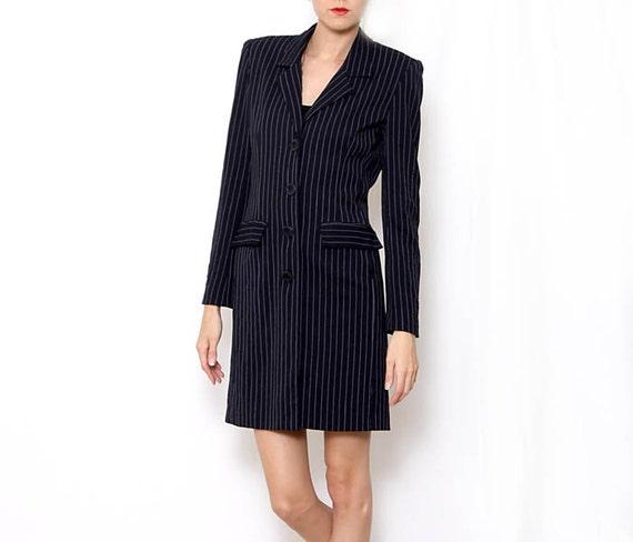 Vintage 90's Pin Striped Blazer Dress
