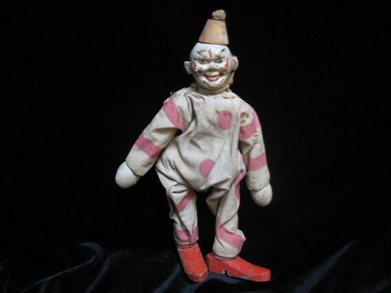 Earliest Schoenhut German Wooden Circus Clown 1915