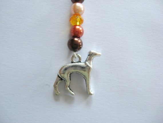 Greyhound Zipper Pull or Cell Phone Charm