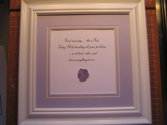 Framed Quote For That Special Someone You Care By