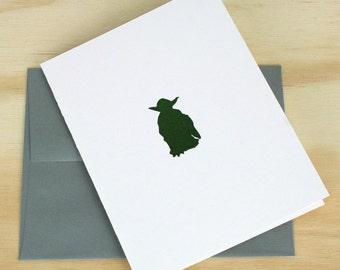 Star Wars Yoda Letterpress Card