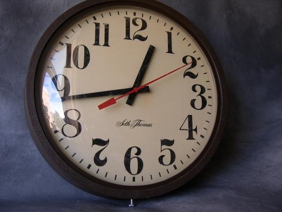 Vintage School Clock Seth Thomas