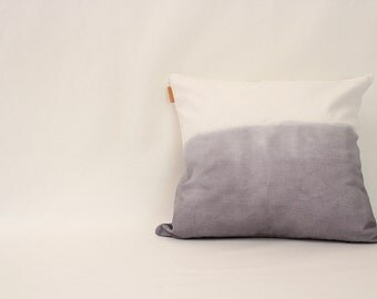 gray ombre pillow cover (set of 2)