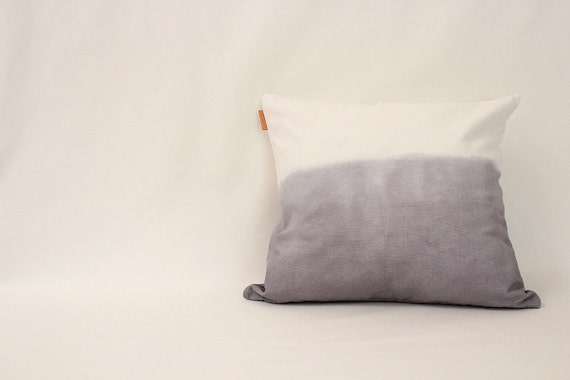 gray ombre cushion cover (set of 2)