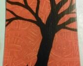 Wonderful Westburg Tree Silhouette Magnet Dangling Fury