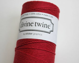 Red Divine Twine - Baker's Twine - 20 yards