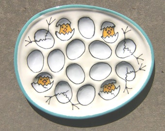 Deviled Egg Plate with Peeps