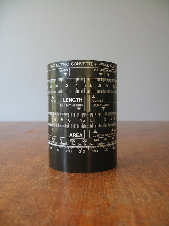 Vintage Danish Metric Converter Pencil Cup
