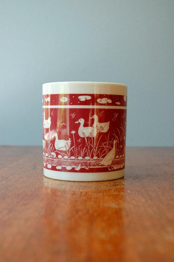 Vintage Taylor & NG Primitives Ducks Mug