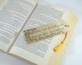 Friend Bookmark - Wood Pyrography - Friend Family Quote Wood Bookmark