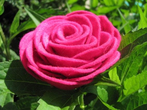 Felt Rose Pattern KAYLIE ROSE Felt Flower Tutorial Hairclip Pattern Headband Brooch Pin Accessory PDF ePattern eBook Tutorial How To