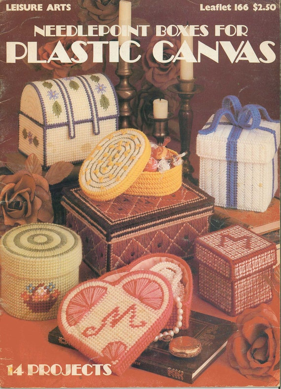 Needlepoint Boxes for Plastic Canvas, leaflet 166 from Leisure Arts