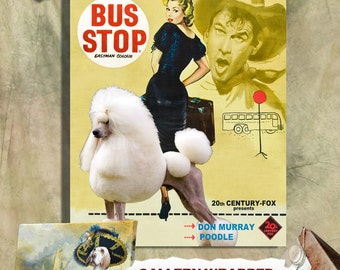Standard Poodle Print Fine Art Canvas - Bus Stop Movie Poster NEW COLLECTION by Nobility Dogs