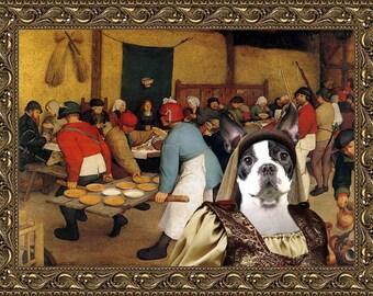 Boston Terrier, Boston Terrier Art, Boston Terrier Print, CANVAS Print, Dog Portrait, Dog Painting, Dog Art, Dog Print, Custom Dog Art