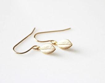 Little Leaf Earrings // Gold or Silver
