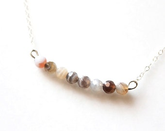 Agate Bar Necklace