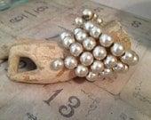 Vintage Pearl Memory Wrap Bracelet