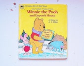 Winnie The Pooh Book, Winnie The Pooh Golden Book, Vintage Kids Books, Winnie The Pooh and Eeyore's House