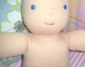 16 inch blank Waldorf doll with face embroidered