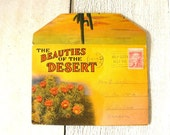 Vintage postcards desert view folder retro souvenir 1950s