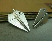 10 pcs 22x31mm The Paper Plane Silver color Pendant Charm For Jewelry Bracelet Necklace Pendant C4616
