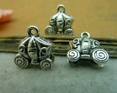 10 pcs 6x14mm The Small vehicle  Silver color Pendant Charm For Jewelry Bracelet Necklace Pendant C4074