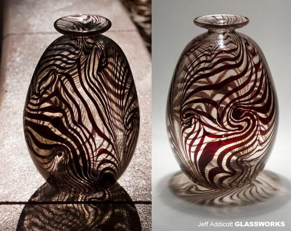 Gold Brown Geology Series Hand-Blown Glass Vase