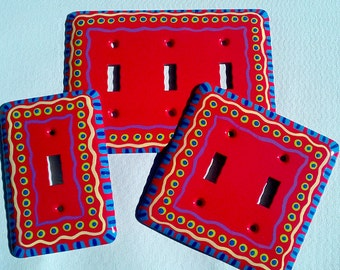 Hand Painted Light Switch or Receptical Cover