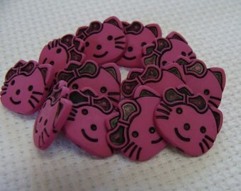 Button Shank Hello Kitty 12pcs